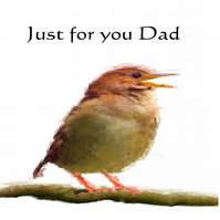 Nightingale Father's Day Card - FREE POSTAGE AND PACKING