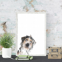 Abstract pet portrait -  dog portrait, contemporary, custom pet