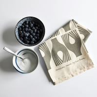 Artichoke Hearts Screen Printed Tea Towel