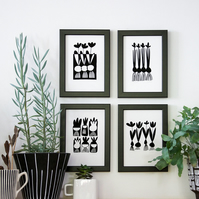Spring Bulbs - Set of 4 Prints