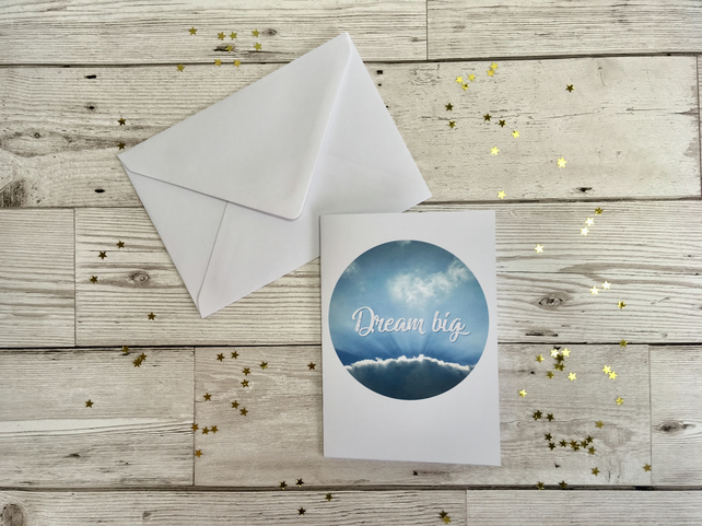 Dream big greeting card