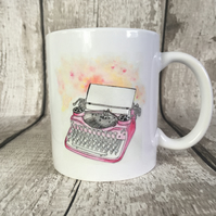 Vintage typewriter coffee mug.