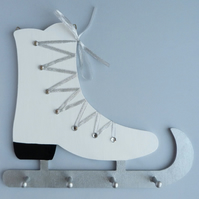 Ice Skate Rack with Snow Glitter
