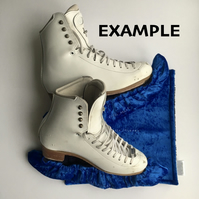 Ice Skate Soakers and Blade Wipe Set - Custom made and personalised (velveteen)