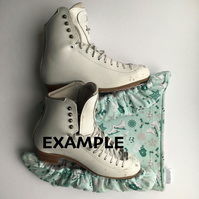 Ice Skate Soakers and Blade Wipe Set - Custom made and personalised (ice skates)