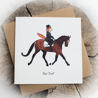 Fox Trot Pun Birthday Note Card - Free delivery