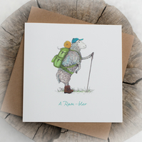 Ram-bler Pun Birthday Note Card - Free Delivery
