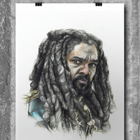 King Ezekiel from The Walking Dead by Wil Shrike