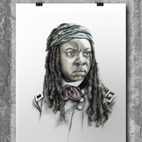 Michonne from The Walking Dead by Wil Shrike