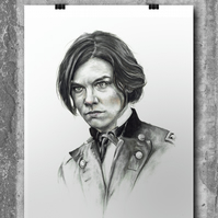 Maggie Rhee from The Walking Dead by Wil Shrike