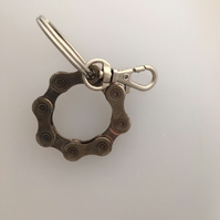 keyring made from recycled cycle chain