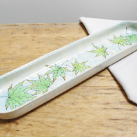 French Baguette Platter - Fall Maples on Pond