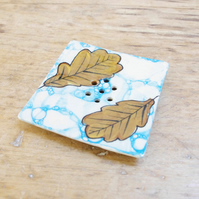 Soap Dishes - Fall Oak Leaves  (Square)