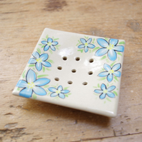 Soap Dishes - Forget-me-nots (Square)