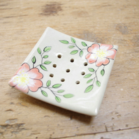 Soap Dishes - Wild Rose (Square)