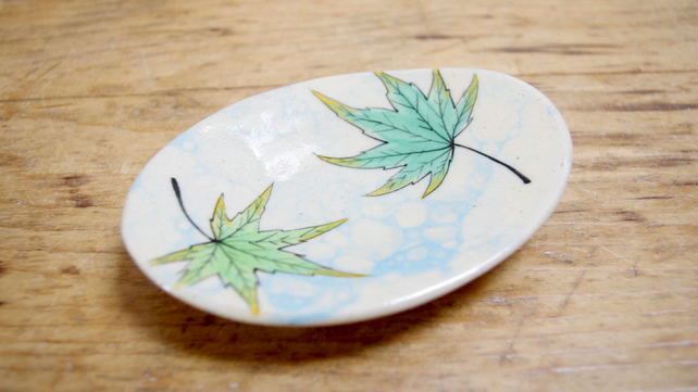 Tea Bag Dish - Fall Maples (Oval)