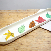 French Baguette Platter - Leaves