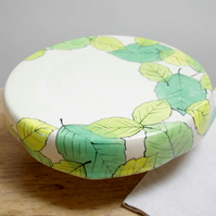 Cake stand - Green Beech Leaves