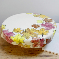 Cake Stand - Autumn Maple Leaves