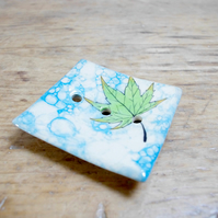 Soap Square Dish - Japanese Maple Leaves Floating on Pond