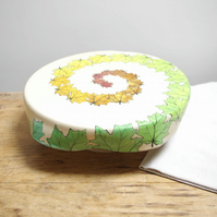 Cake Stand - Spiral Season Maple Leaves
