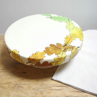 Cake Stand - Season Oak Leaves