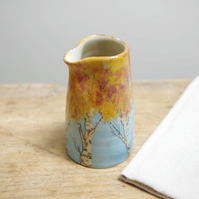 Small Jug - Autumn Birch Trees (Red and Orange)
