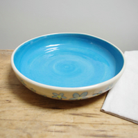 Large Pasta Bowl - Forget-Me-Not