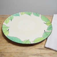 Large Plate - Green Beech Leaves