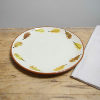 Side Plate - Round Circle Autumn Oak Leaves