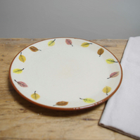 Side Plate - Round Circle Autumn Beech Leaves