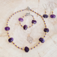 Large amethyst jewellery set