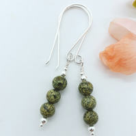 Russian Serpentine Bead Earrings