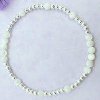 Mother of Pearl and Silver Layering Bracelet