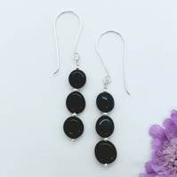 Black Onyx Nugget Earrings