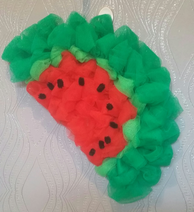 Watermelon wreath decoration indoors or outdoors