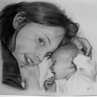 Portraits hand drawn from photos, any size, low cost, high quality, fast