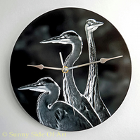 Heron Movement Clock with super-silent Quartz movement
