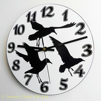 3 Sea Gulls Clock With Super-silent Quartz Movement