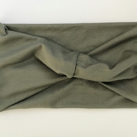 Khaki Jersey Stretch Headband