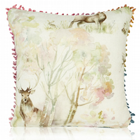Voyage Enchanted Forest 30cm Cushion with a voyage trim