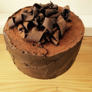6in round Fake chocolate fudge prop cake