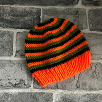Hand Knitted Halloween Themed Baby Hats - 3-6 Months