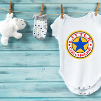 Little Geordie Star Short Sleeve Baby Vest - 100% Cotton - 0-3 Months