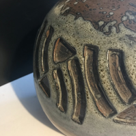 Spherical hand-built vase