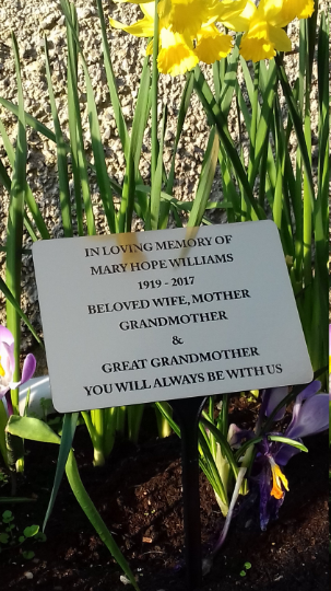 Engraved Memorial Garden Plaque Grave Marker Cemetery Grave Plaque Ornament