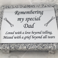 Memorial Grave Marker,Grave Plaque, Remembrance Marker, Grave Headstone