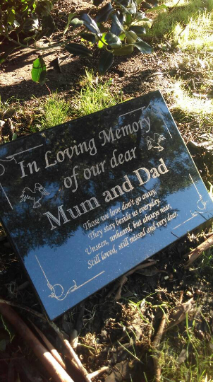 MEMORIAL STONE// PLAQUE// GRAVEMARKER// MISS YOU DADDY