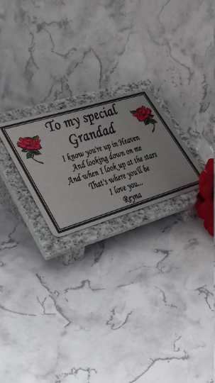 Personalised Memorial Plaque Grave Marker Grave Stone Rememmbrance plaque