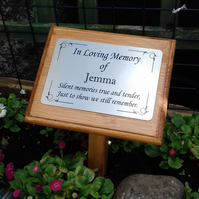 Wooden Memorial Grave memorial Plaque Cemetery Tree Remembrance Grave Plaque